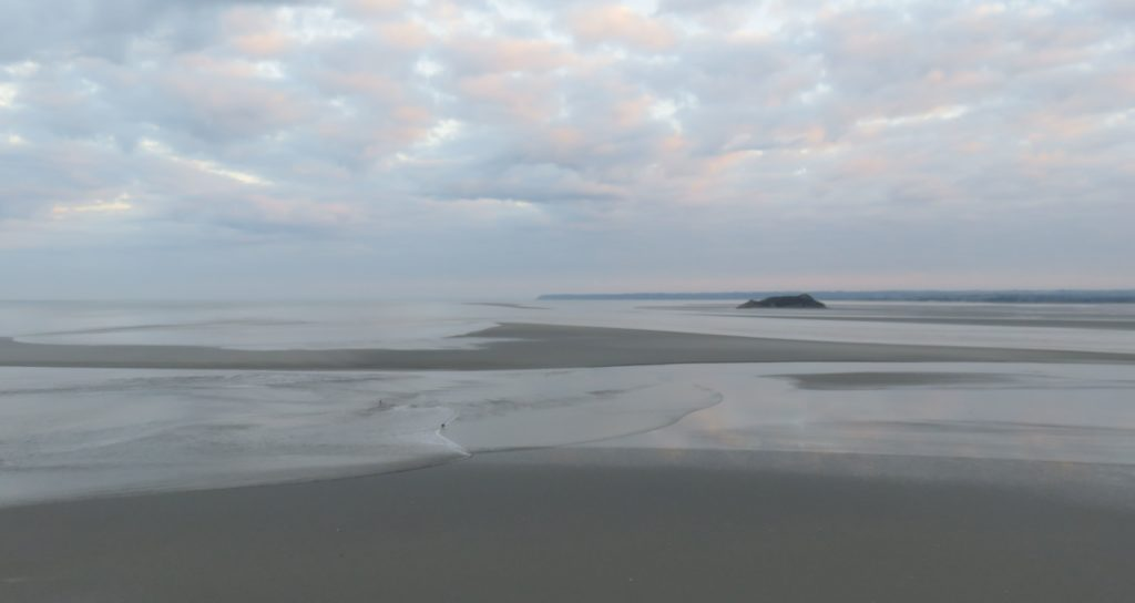 Marée dans la baie de St-Michel